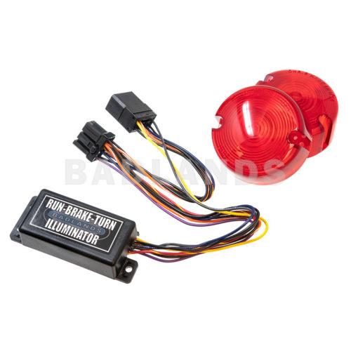 Plug-n-Play Illuminator™ (RUN-BRAKE-TURN with LEQ™) with RED Turn Signal Lenses