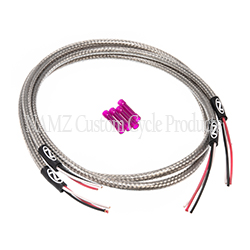 """NAMZ stainless steel 36"""" braided front turn signal harness, universal fitment"""