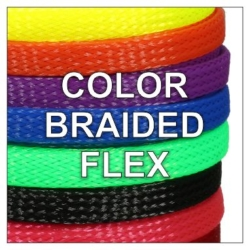 Custom Color Braided Flex Sleeving