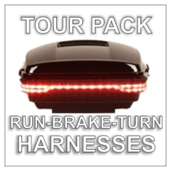 Tour Pack Run-Brake-Turn Quick Disconnect Harnesses