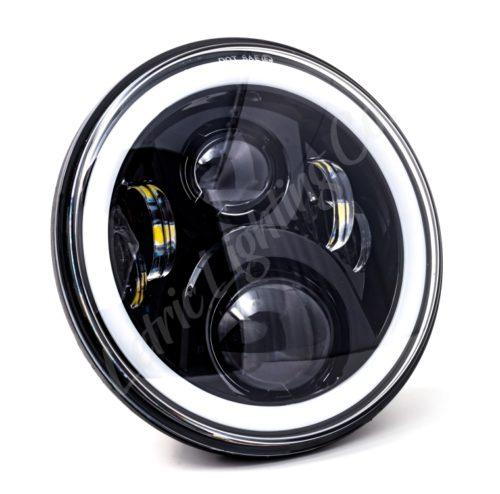 "7"" Full-Halo Black LED Headlight"