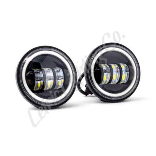 Black Full-Halo LED Auxiliary Fog/Passing Lights