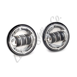 "4.5"" Chrome LED Auxiliary Passing Lamps"