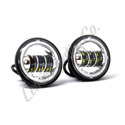 Chrome LED FULL-HALO Auxiliary Passing Lamps