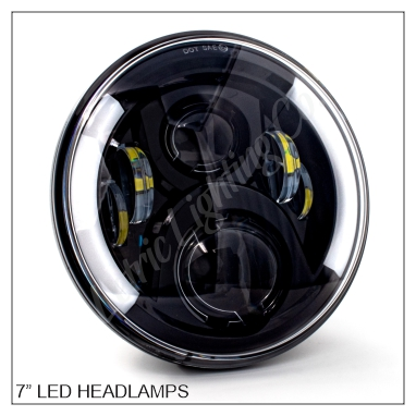 "7"" LED Headlights for Indian"