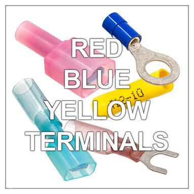 Red - Blue - Yellow Crimp Terminals